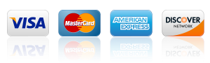 We accept VISA, MasterCard, American Express, Discover Network